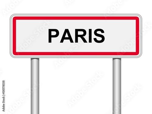 Panneau direction paris fichier vectoriel libre de droits sur la - Combien de panneau stop a paris ...