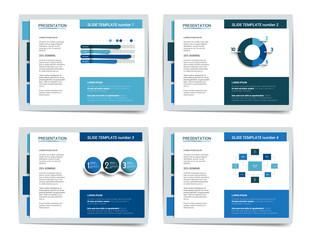 4 presentation business templates. Infographics for leaflet, poster, slide, magazine, book, brochure, website, print.