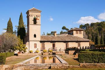 budynek zespołu pałacowego Alhambra w Granadzie