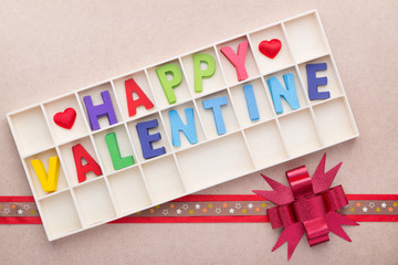 box of Happy Valentine's alphabets