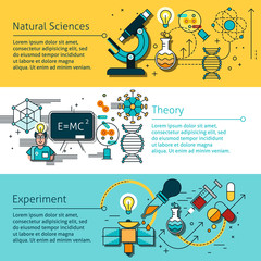 Science Line Banners Set