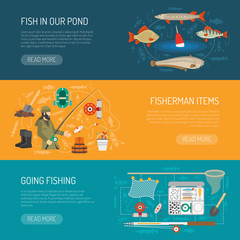 Fishing Banners Set