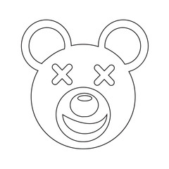 Bear Face emotion Icon Illustration sign design