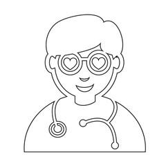 Doctor Face emotion Icon Illustration sign design