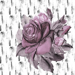 Roses on a textural background   pattern