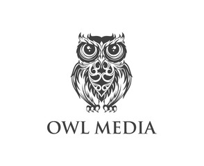 Owl logo design vector template. Owl illustration vector .