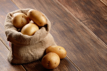 Potatoes in the sack