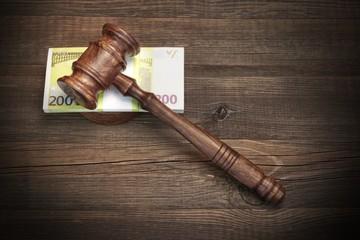 Concept For Law, Corruption, Bankruptcy, Bail, Crime, Fraud, Auc