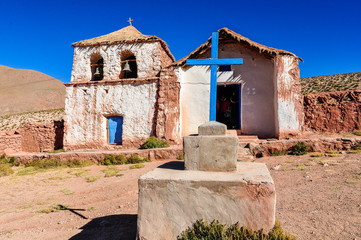Old church in Atacama Desert, Chile