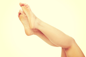 Healthy female feet.