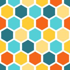 Seamless vector geometric pattern Honeycomb