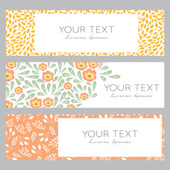 Floral banner templates