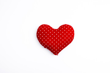 Red valentine heart isolated on white