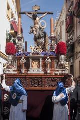 Paso de misterio de la hermandad de la Hiniesta, semana santa de Sevilla