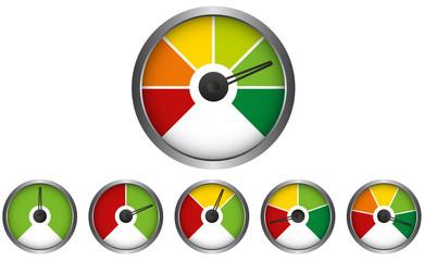 Barometer - Tachometer - Vorlage