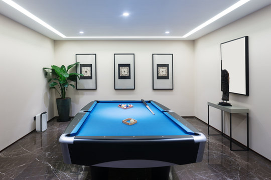 interior of modern recreation room