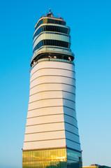 Air control tower in airport  Vienna, Austria