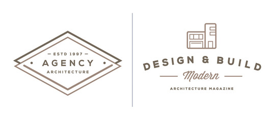 Set of Vector Construction Building Icons Home and Repair can be used as Logo or Icon in premium quality