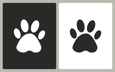Paw - vector icon.