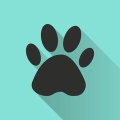 Paw - vector icon.