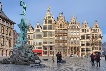 Poster Antwerpen Antwerpen Großer Markt