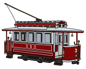 Classic tramway / Hand drawing, vector illustration