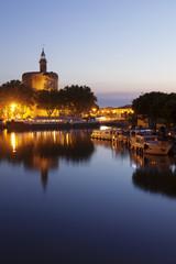 Tour de Constance tower, Aigues Mortes, Petit Camargue, Department Gard, Languedoc-Roussillon, France, Europe