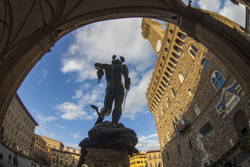 Toscana,Firenze,Loggia dei Lanzi. Wall mural