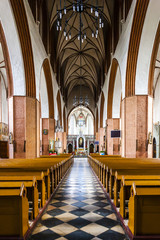 interior of Saint John the Evangelist Cathedral, Kwidzyn, Pomera