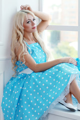 blond woman vintage