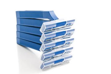 five blue razors