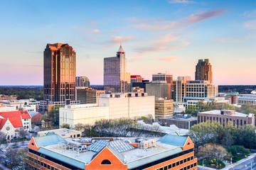 Raleigh North Carolina, USA downtown skyline.