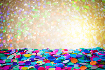 Carnival background with confetti