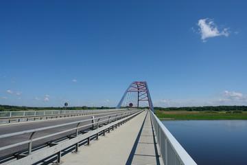 Brücke über die Elbe bei Dömitz,  Mecklenburg