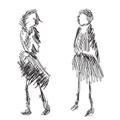 Fashion models sketch