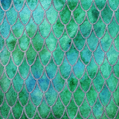 Dragon skin scales pattern texture background green emerald