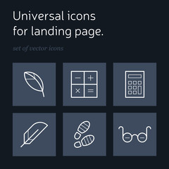 Vector icons for landing page