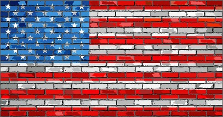Flag of USA - Illustration, 