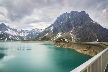 barrage d'eau/barrage au lac Lünersee