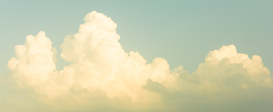 Panorama sky, vintage sky