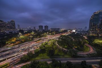 Leinwandbilder - Jakarta city panorama