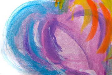 Bright watercolor abstraction.