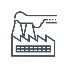 Factory icon suitable for info graphics, websites and print media and  interfaces. Line vector icon.
