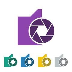 photography logo icon Vector