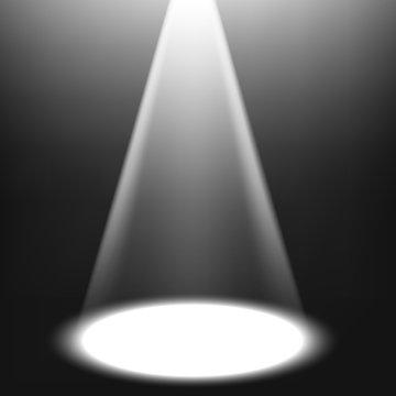 White spotlight shining