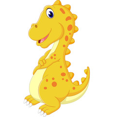 illustration of cute dinosaurus cartoon