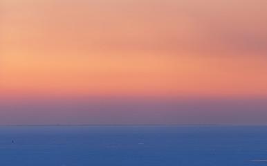 soft gradient sunset in winter