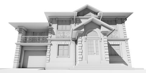 Вид снизу на частный дом
