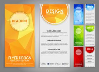 Design geometry polygonal flyers