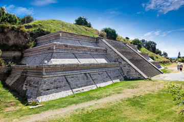 Cholula Pyramid in Puebla, Mexico.